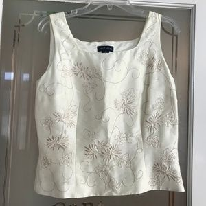 Ann Taylor Embroidered Silk Tank Top 8